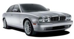 Chauffeur driven cars in Sheffield area, including the long wheel based version of the new Jaguar XJ